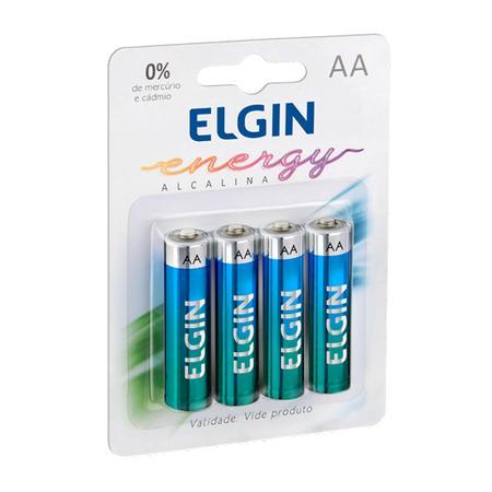 Pilha Alcalina Elgin Energy AA, Pack com 4 - 82153