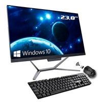 Computador All In One Hometech Intel Core i3-10100, 4GB, 120GB SSD, WiFi, 23.8´ FHD, Windows 10 Pro - HTA24G2-RCW
