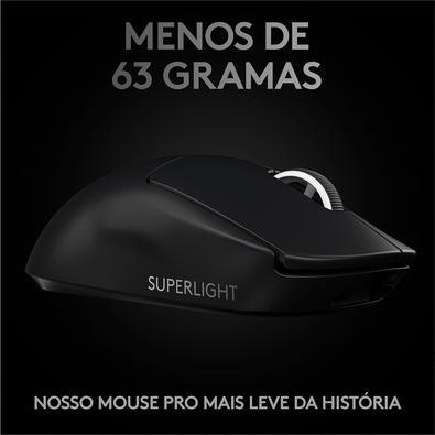 Mouse Sem Fio Gamer Logitech G PRO X Superlight, Lightspeed, 5 Botões, 25000 DPI - 910-005879