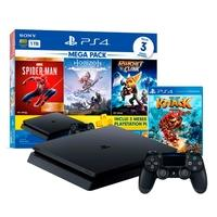 Console Sony PlayStation 4 Mega Pack 15, 1TB, Horizon Zero Dawn Complete Edition + Marvel's Spider-Man + Ratchet & Clank + Game Knack 2