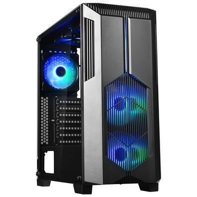 Gabinete Gamer Redragon Grindor, Mid Tower, 2x Fans 120mm RGB, Lateral em Vidro Temperado, Preto - GC-616