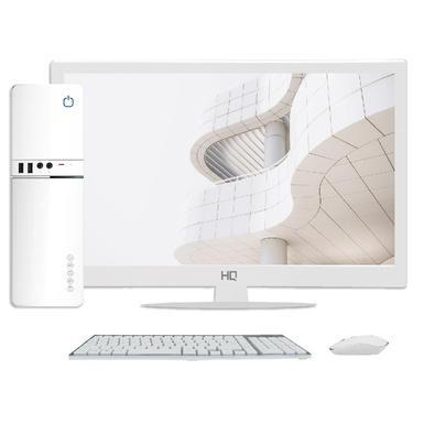 Computador Skill SlimPC Intel Celeron G4930 8ª Geração, 4GB, DDR4, SSD 120GB,  Intel UHD 610, Monitor 15.6´, LED, HDMI, Branco