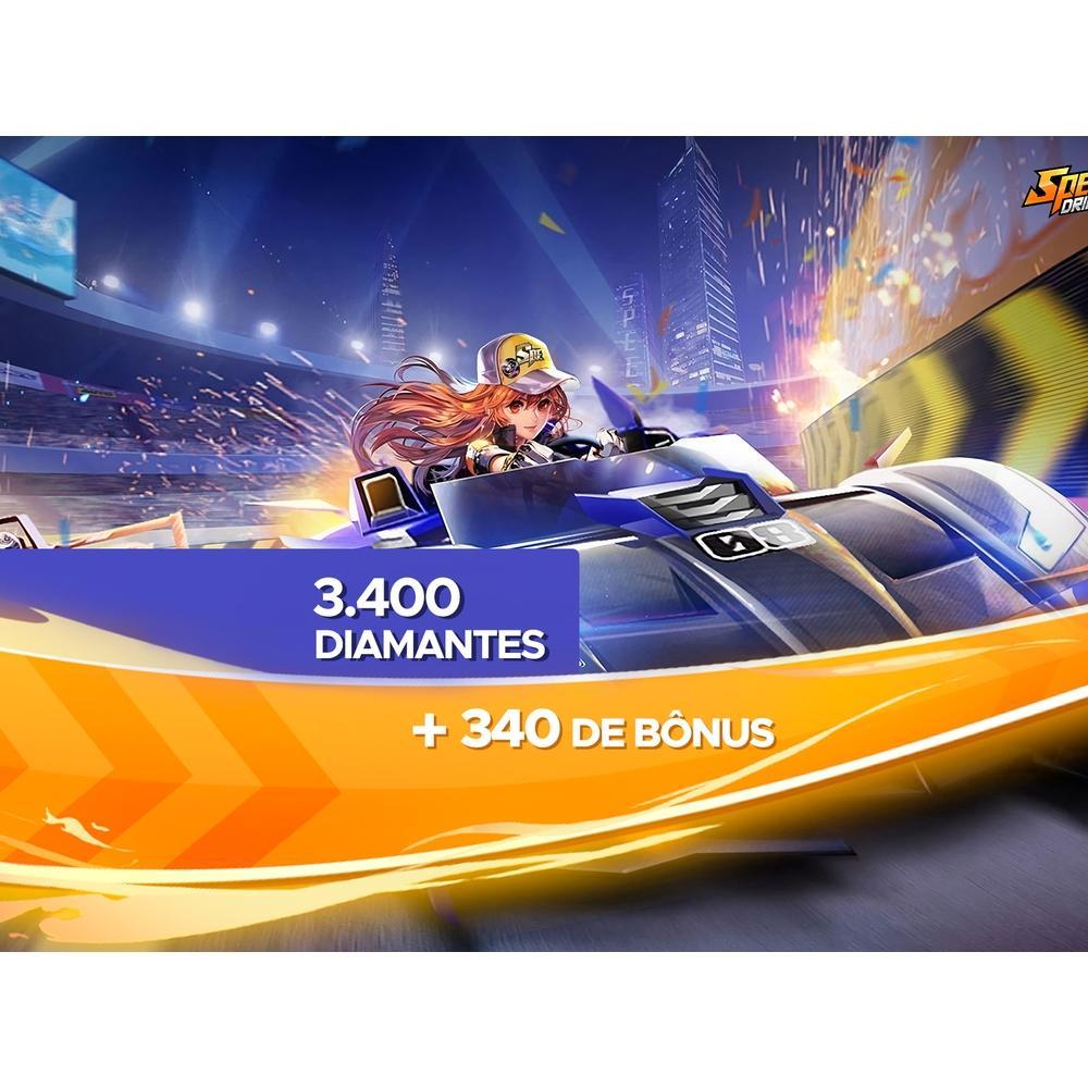 Gift Card Digital Speed Drifters - 3.400 Diamantes + 340 de Bônus