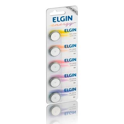 Bateria Litio Elgin Blister CR2016, 5 Unidades - ELE000000082191