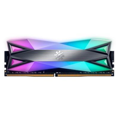 Memória XPG Spectrix D60G, 8GB, 3000MHz, DDR4, RGB, CL16, Preto - AX4U30008G16A-ST60
