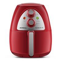 Fritadeira Sem Óleo Mondial Red Premium 4L, 1500W, com Controle de Temperatura e Timer, 127V, Vermelho - AF-14-4L