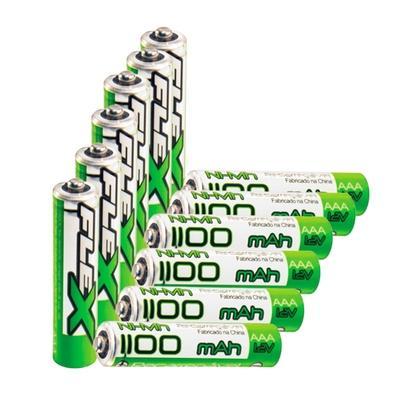 Kit 6 Pilhas Recarregáveis FLEX GOLD AAA 1100 mAh Blister com 2 unidades - 7934