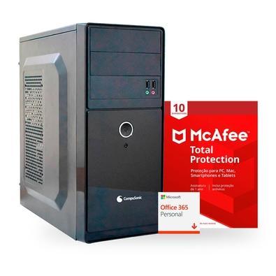 Kit Computador Compusonic Intel Core i5 8400, 4GB, SSD 256GB M.2, Fonte 200W + Microsoft 365 Digital + McAfee Proteção 10 Computadores Digital