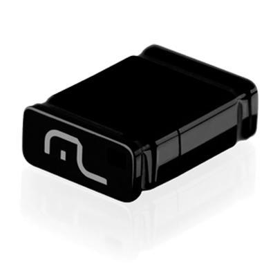 Pen Drive Nano Multilaser, 4GB, USB, Leitura 13MB/s, Gravação 5MB/s, Preto - PD052