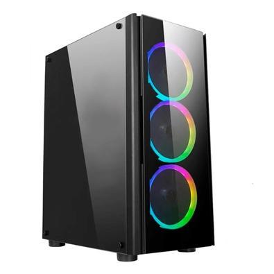 PC Gamer NTC Vulcano X Powered By Asus AMD Ryzen 5 3600, NVIDIA Geforce GTX 1650, 16GB RAM, SSD 480GB, RGB, Linux, Preto - 7301