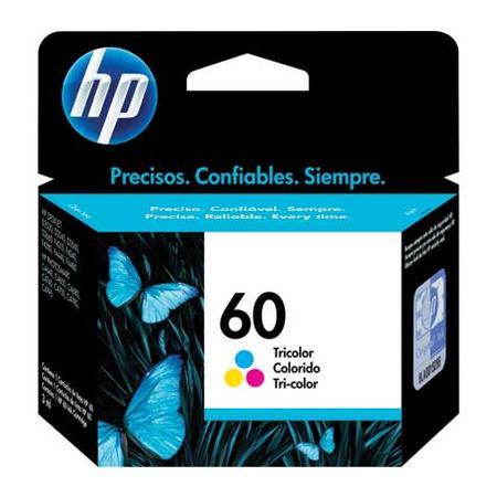 Cartucho de Tinta HP 60, Colorido - CC643WB