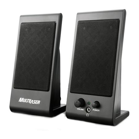 Caixa de Som Multilaser Speaker Flat 3W RMS USB SP009