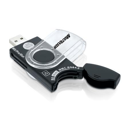 Multilaser Leitor de Cartão Universal Portátil USB 20 em 1 AC102