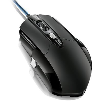 Mouse Gamer Warrior 3200DPI 6 Botões Laser Preto - MO191