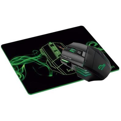 Kit Gamer Warrior - Mouse LED + Mousepad Control, Pequeno - MO207