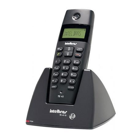 Telefone Intelbras sem Fio com Identificador de Chamadas TS40ID Preto