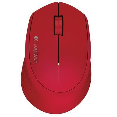 Mouse Logitech M280 Sem Fio Vermelho 1000DPI - 910-004286