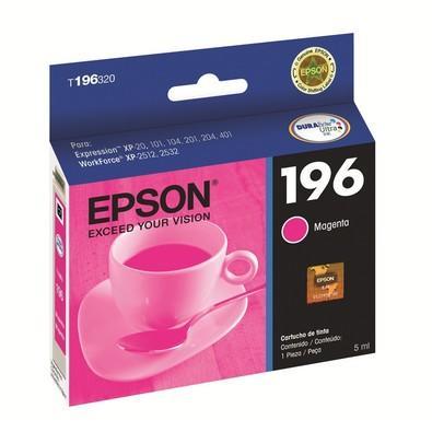 Cartucho de Tinta Epson p/ XP204 e  XP401 Magenta  - T196320BR