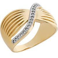 Anel Dourado com Zircônias Tamanho 16 - AN700226F