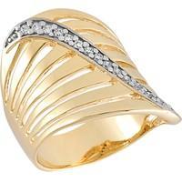 Anel Dourado com Zircônias Tamanho 18 - AN700240F