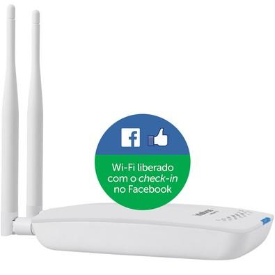 Roteador Wireless com check-in no Facebook - Intelbras Hotspot 300