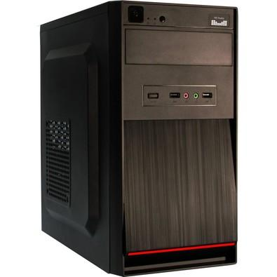 Gabinete K-Mex ATX GM-11T9 com Fonte PX300 2 USB + HD Áudio com cabo Preto