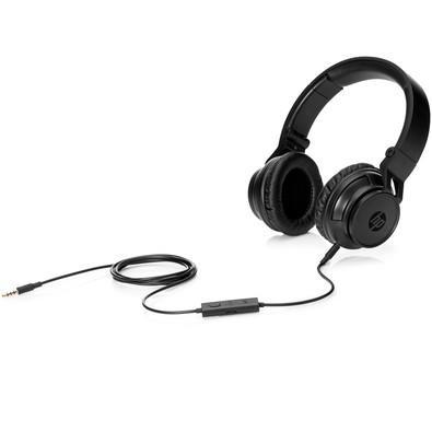 Headset HP Dobrável H3100 Com Microfone Preto
