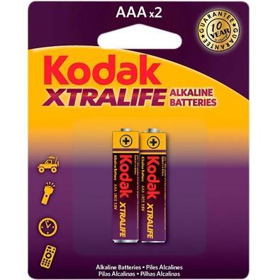 Pilha Alcalina Aaa Xtralife Lr03 Mn2400 C/ 2 Unid Kodak