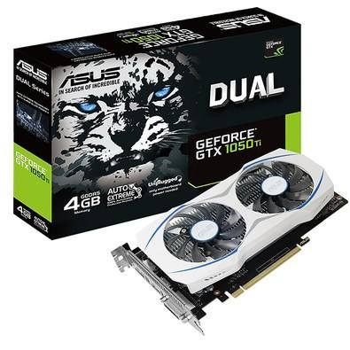 Placa de Video VGA NVIDIA ASUS GeForce GTX 1050TI 4GB GDDR5,128Bits,Auto-Extreme,dupla ventoinha,Super Alloy Power II,DVI/HDMI/DP - DUAL-GTX1050TI-4G