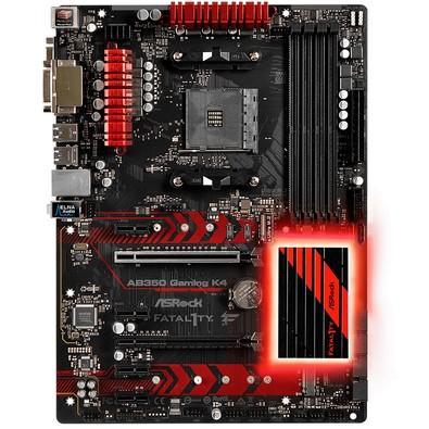 Placa-Mãe ASRock Fatal1ty AB350 Gaming K4 , AMD AM4, ATX, DDR4