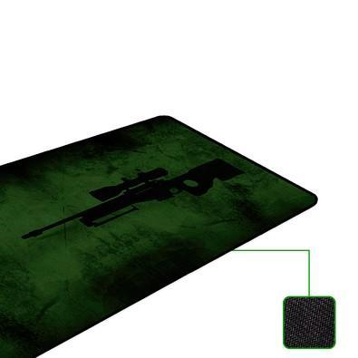 Mousepad Rise Gaming Sniper Costurado Extended Fibertek - RG-MP-06-SNP