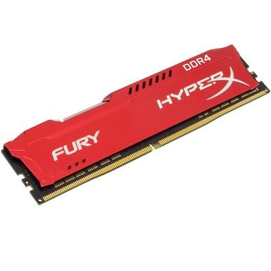 Memória Kingston HyperX FURY 16GB 2400Mhz DDR4 CL15 Red - HX424C15FR/16