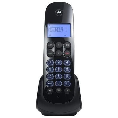 Telefone Motorola DECT s/ Fio Digital c/ Identificador de Chamadas, Viva-Voz + 1 Ramal MOTO750-MRD2 Preto