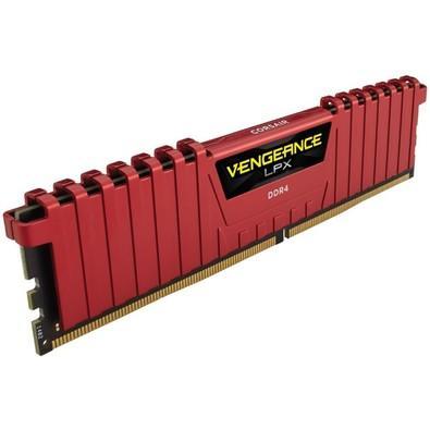 Memória Corsair Vengeance LPX, 8GB, 2666MHz, DDR4, CL16, Vermelho - CMK8GX4M1A2666C16R