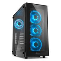 Gabinete Sharkoon TG5 Blue Vidro Temperado 4mm Led Fan 12cm ATX