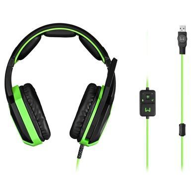 Headset Gamer Warrior 7.1 USB com LED Verde - PH224