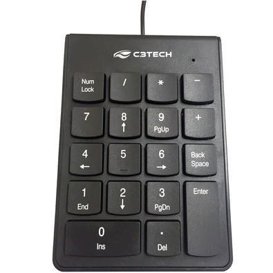 Teclado Numérico C3 Tech USB Preto KN-10BK