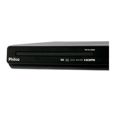DVD Player Philco com Conexão HDMI e USB Preto PH136