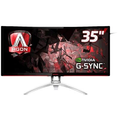 Monitor Gamer AOC Agon LED 35´ Ultrawide Curvo, QHD, HDMI/Display Port, GSync, Som Integrado, 100Hz, Altura Ajustável - AG352UCG