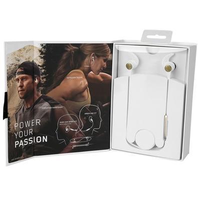 Fone de Ouvido Bluetooth Esportivo Jaybird X3 Intra-Auricular À Prova de Suor com Encaixe Universal e 8 horas de Bateria - Branco