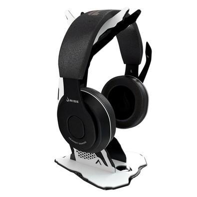 Suporte para Headset Rise Alien Preto e Branco - RM-AL-01-BW