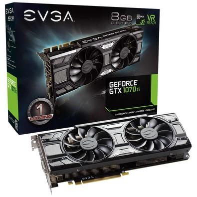 Placa de Vídeo EVGA NVIDIA GeForce GTX 1070 Ti SC Gaming 8GB, GDDR5 - 08G-P4-5671-KR