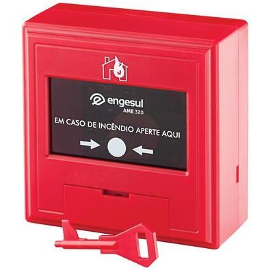 Acionador Manual Intelbras Engesul Endereçável AME 320 Vermelho 4612032