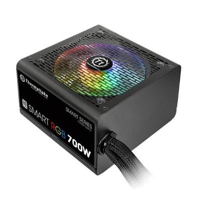 Fonte Thermaltake 700W 80 Plus White RGB Smart PS-SPR-0700NHFAWB-1
