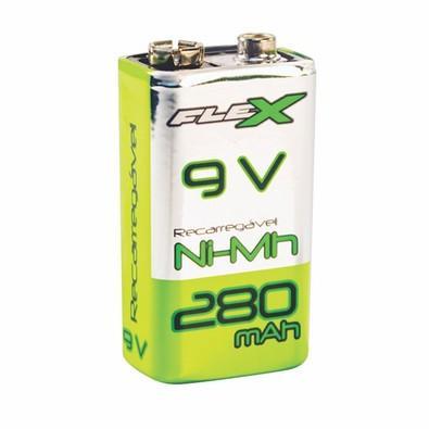 Bateria Recarregável FLEX GOLD 9V 280 mAh Blister com 1 unidade - 7952