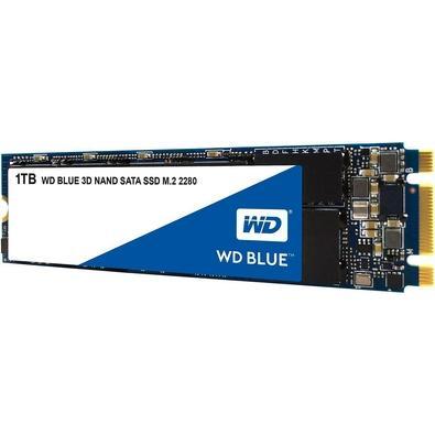SSD WD Blue, 1TB, M.2, Leitura 560MB/s, Gravação 530MB/s - WDS100T2B0B