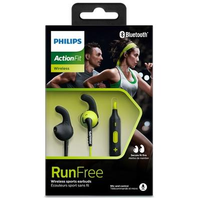 Fone de Ouvido Bluetooth Philips Esportivo Resistente à Água Preto/Verde - SHQ6500CL/00