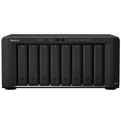 Storage Synology NAS DiskStation Annapurna Labs Alpine AL-314 Quad Core 1.7GHz 4GB DDR3L - Torre 8 Baias Sem Disco - DS1817