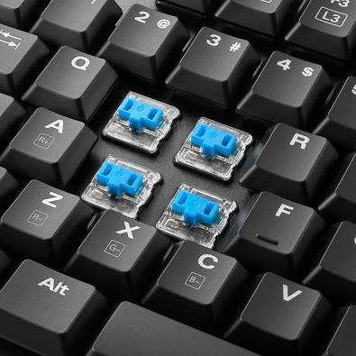 Teclado Gamer Sharkoon Switch Mecânico Kailh Blue, RGB, US - PureWriter TKL RGB