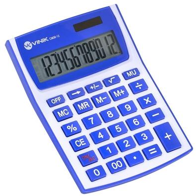 Calculadora de Mesa Vinik 12 Dígitos CM30 - 26088 Branca/Azul